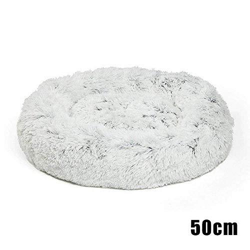 Chomile Super weiches Haustierbett, Kuschel aus Kunstfell, Donut-Kissen, warme Plüschmatte für Hunde und Welpen -