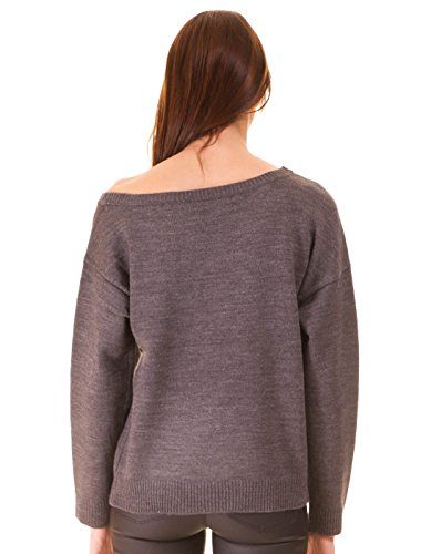 Open shoulder sweater by Noisy May Grey