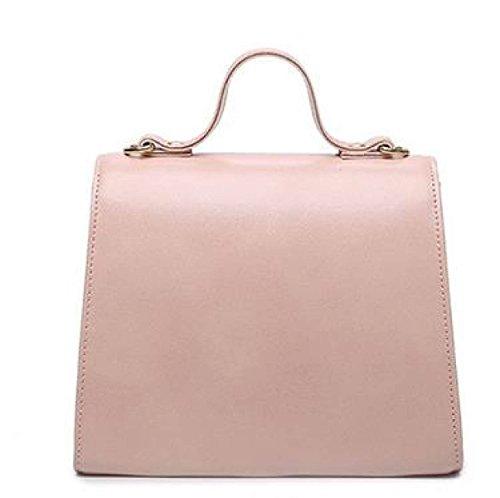 2017 Neue Öl Wachs Leder Lackleder Schulter Messenger Bag Kleine Quadratische Tasche,Brown Blue