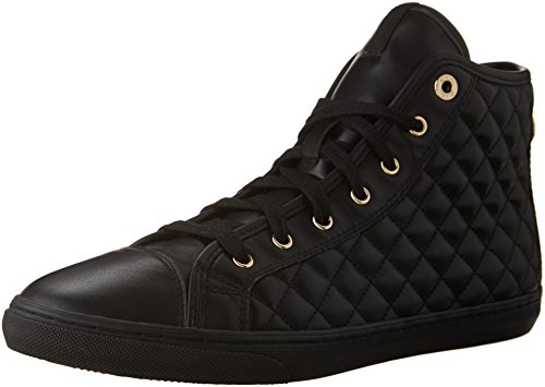 Geox D NEW CLUB A, Damen Hohe Sneakers, Schwarz (BLACKC9997), 40 EU (7 Damen UK)