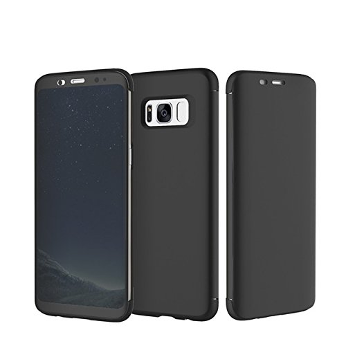 Samsung Galaxy S8 Plus cover - Rock DR V Smart View Flip Case Cover by VAULT - TEC ™ , Luxury Durable - Flip cover Black  available at amazon for Rs.1099