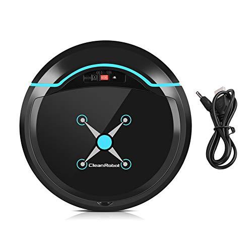 Zerodis Robot Aspirador, Limpiadores robóticos Limpiador USB Recargable Mini automático Smart Clean...