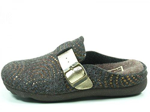Pantofola Da Donna Manitu-home Marrone