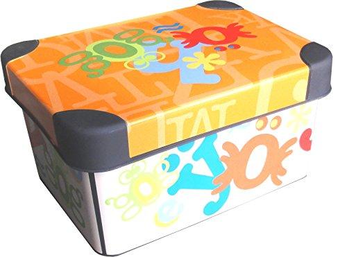 """Deco Aufbewahrungsbox \""""Alphabet\"""" 1,9L ca. 19 x 14 x 10 cm Kiste mit Deckel Kunststoff Box"""