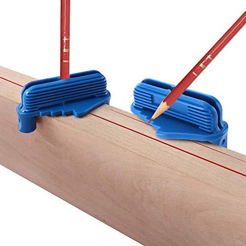 Evenlyao Mittelmesser,Mittenfinder, Zentrier-Markierungswerkzeug, Mittenversatz-Markierungswerkzeug,Hohe Genauigkeit, Mittellinie, Für Die Holzarbeitsschreinerei
