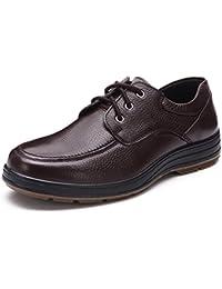 Zapatos ocasionales de los hombres negocio/Antideslizante suave mediana edad papá en el extremo de la zapata/Zapatos de los padres/Zapatos de hombre
