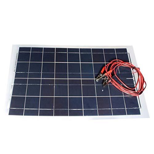 Jasnyfall 30W 12V Flexible Solar Panel mit Alligatorclip-Kabel tragbar für RV-Boote (Farbe: schwarz) (Solar-panel-tragbare Rv)