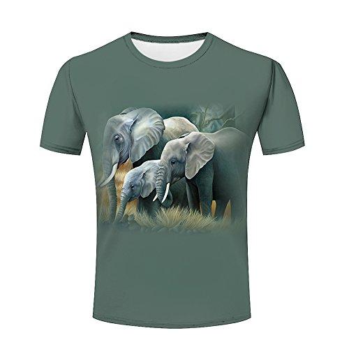 eb0f5ffae0cc5 Men 3D Tshirts Unisex Elephant Family Printed Creative Graphics Tees 3XL