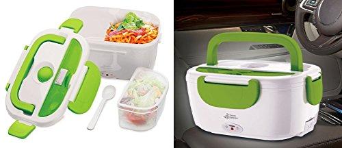 Preisvergleich Produktbild GKA KFZ elektrische Thermo Lunchbox fürs Auto Lunch Box Thermobox Essenwärmer Isolierbehälter Brotzeitdose 12 V mit Adapter