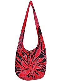 "TIE DYE Bohemian Hipster Hobo Boho Hippie Crossbody Bag Purse Twist 39"" (Red)"