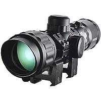 3-9x32aol Alcance Óptico Táctico del Rifle Rojo Y Verde De Iluminación Telémetro Óptico Francotirador del Alcance del Rifle del Alcance del Rifle