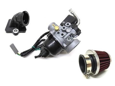 17,5mm carburateur tuning Kit avec collecteur d'admission Filtre à air pour Aprilia SR 50Sport City Mojito, Piaggio Zip SSL Sfera NSL RST 50TPH NRG Mc 23NTT Typhoon Quartz, Gilera Runner Stalker Ice DNA 50
