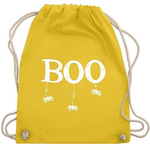 Erwachsene Kostüm Boo Für - Halloween - Boo mit kleinen Spinnen - weiß - Unisize - Gelb - WM110 - Turnbeutel & Gym Bag