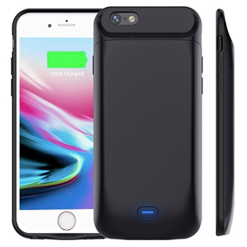 Vobon Custodia Batteria per iPhone 7 / 8, 5000 mAh Power Bank, Portatile Carica Cover con Esterna Supplementare Ricaricabile Caricabatterie Charger pack per Apple iPhone 7 / 8 (4,7') (Nero)