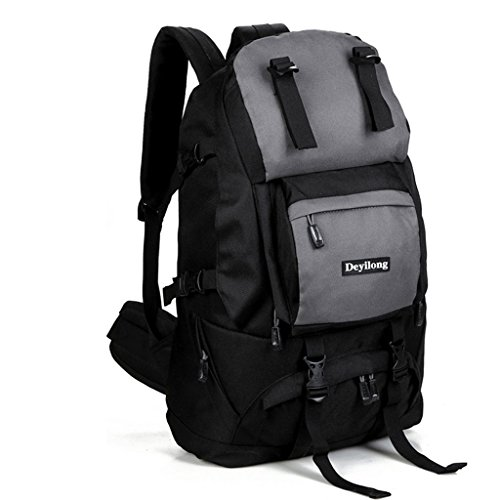 Sacchetto di alpinismo esterno di Oxford spalla tela borsa da viaggio Borsa 40L nero
