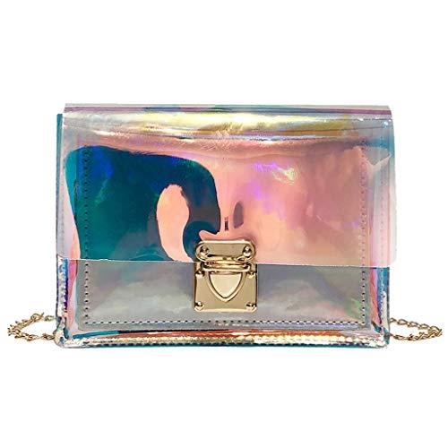 Luckycat Impermeable a prueba de humedad muchacha de las mujeres del bolso de la playa bolsas de mano portátiles transparentes Color caramelo cierre de Imán de natación bolsas de PVC