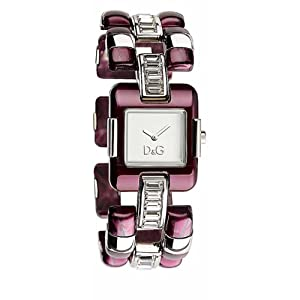 Dolce & Gabbana e DW0465 – Reloj de Mujer de Cuarzo, Correa de Acero Inoxidable Color Rojo