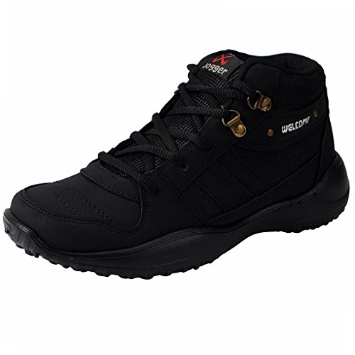 Welcome Men's Fitness Play Black Mesh Sports Shoes - 9 UK  available at amazon for Rs.423