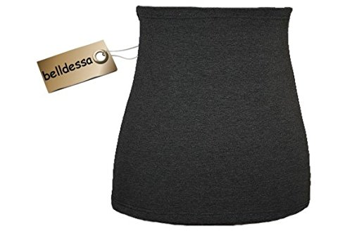 3 in 1 : Jersey - Nierenwärmer Frau M uni grau Shirt Verlängerer / modisches Accessoire