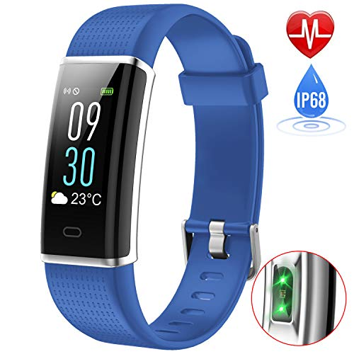 iPosible Fitness Tracker, Orologio Fitness Impermeabile IP68 Braccialetto Fitness Cardiofrequenzimetro da Polso Contapassi Smart Watch Pedometro GPS per Donna Uomo Bambini per iPhone Android iOS