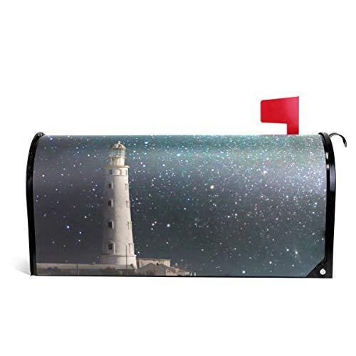 Alaza(mailbox cover) WOOR Leuchtturm bei Nacht, magnetisch, Standardgröße, 45,7 x 52,1 cm 20.8x18 inch Standard Size Multi