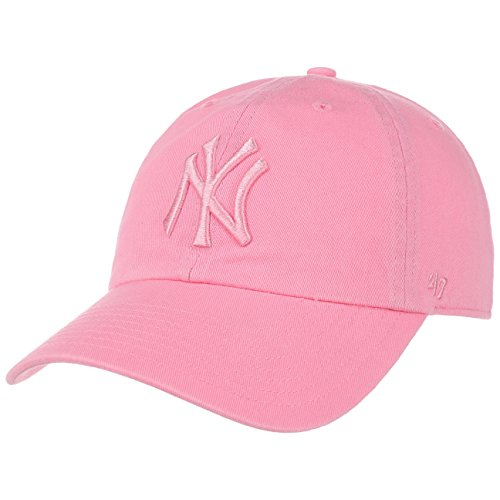 Gorra 47 Brand – Mlb New York Yankees Clean Up Curved V Relax Fit rosa talla: Ajustable