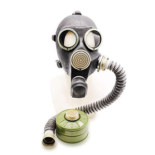 lica Gp-7 Russische UDSSR Militärgummi mit allem Zubehör: Maske, Hose, Filter, kleine Membranen Farbe: Schwarz | Größe: S ()
