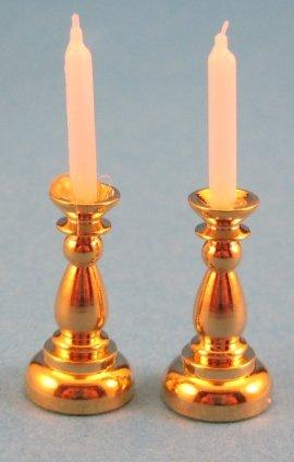 Preisvergleich Produktbild Mini Kerzenleuchter 2 Stück Kerzenständer Puppenhausdekoration Miniatur 1:12
