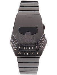 91fe28f636a2 Hombre Peculiar Cool Gadgets Amazing diseño de cabeza de serpiente acero de  tungsteno LED azul reloj
