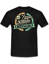 Sport Design Crossgolf RAHMENLOS Geschenk Hobby Männer T-Shirt von Spreadshirt®