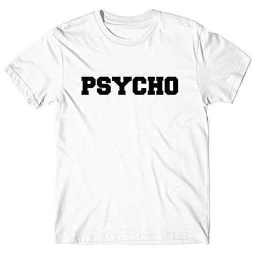 Herren-T-Shirt Psycho - 100% baumwolle LaMAGLIERIA Weiß