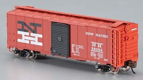 Bachmann Industries Inc. AAR 40' Steel Box Car New Haven - N Scale, Black and Orange