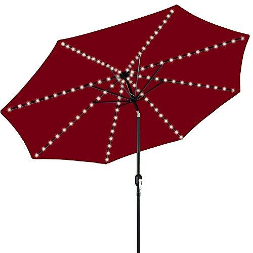Lampada per ombrellone,wireless ombrellone luci led con 104 led+controllo remoto, giardino luce batteria idromassaggio esterno balcone ombrello lampada decorazione,tenda di campeggio luce