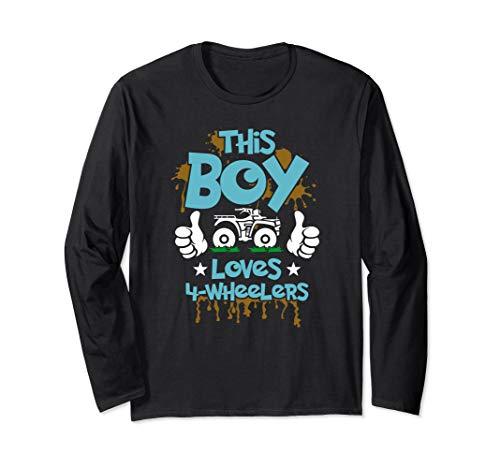 Kids ATV shirt 4 wheeler t-shirt for boys four wheeler gift Langarmshirt