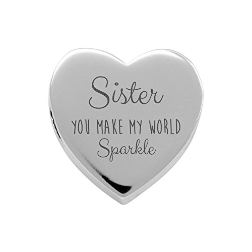 Uniqueen I Love You To The Moon And Back Sister Rhinestone Crystal Charms Beads fit Chamilia Charm Bracelet