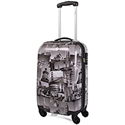 ITACA - 67950 TROLLEY LOW COST DE CABINA POLICARBONATO, Color Negro