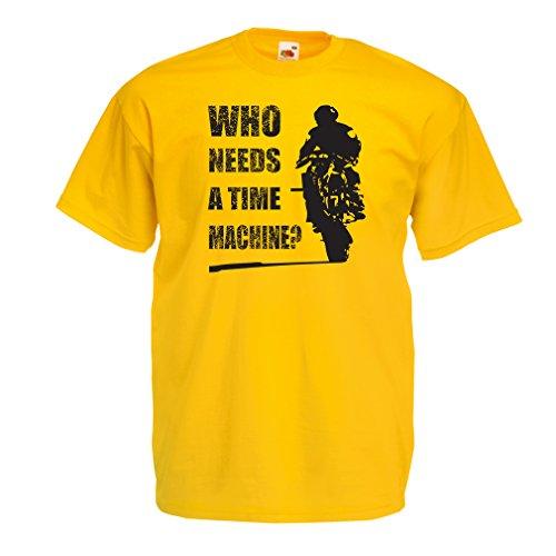 lepni.me T-Shirt da Uomo Abbigliamento Moto (X-Large Giallo