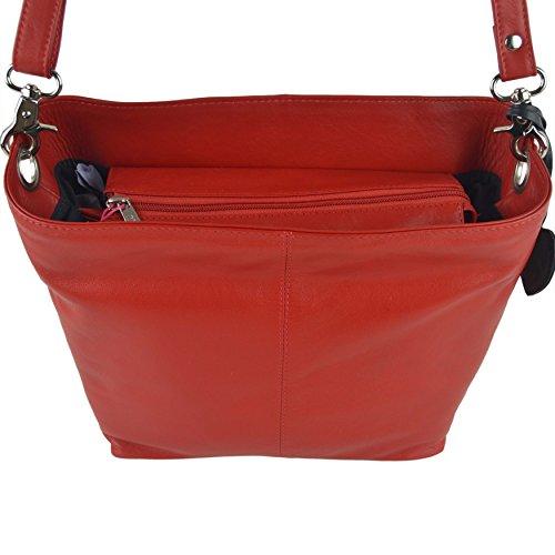 Mala Leather , Sac bandoulière pour femme Pourpre violet rouge