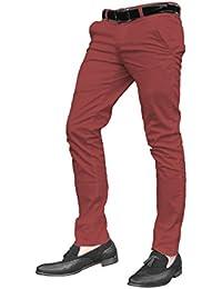 Pantalones chinos para hombre, ajuste skinny, diferentes colores y tallas