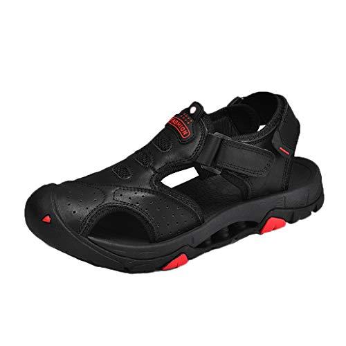 iHAZA Herren Europäischen Und Amerikanischen Retro Flache Schuhe Sommer Neue Hohle Sandale