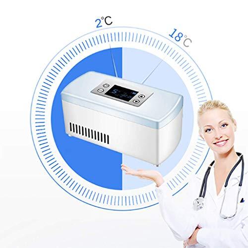 41ybub%2BTnPL - Refrigerador portátil de insulina, Caja refrigerada, Mini refrigerador para medicamentos pequeños (Blanco) 210 * 106 * 95 mm