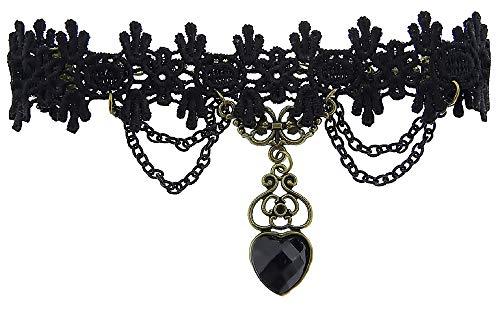 Imagen de kiralove m27  anillo  pulsera  baciamano  encaje  macramé  negro  estilo victoriano  link  gótico  mujer  chicas  bisutería
