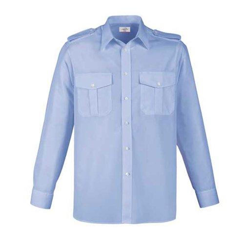 Greiff Classixx Herren Pilothemd 6602 langarm (41/42 - L, bleu)