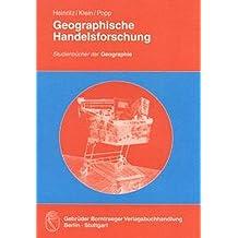 Geographische Handelsforschung (Studienbücher der Geographie)