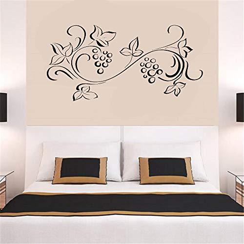 guijiumai Blumenornament Muster Wandtattoo Bett Hintergrund Dekor Blume Raumdekoration Wandaufkleber Dekoration Wohnzimmer weiß 115x56 cm