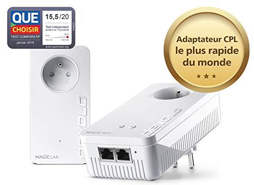 devolo Magic 2 WiFi: Starter Kit CPL le plus rapide au monde pour un WiFi ac dans toute la maison via la ligne électrique, WiFi Mesh, technologie G.hn