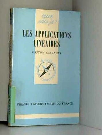 Les Applications linéaires par Gaston Casanova