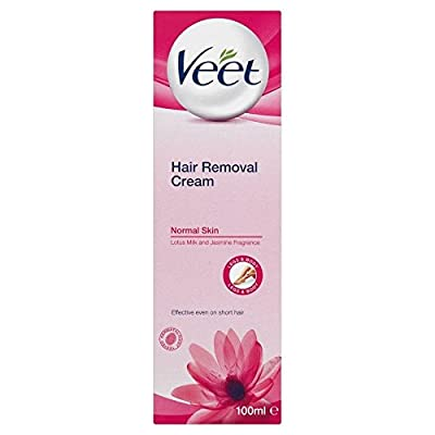 Veet Hair Removal Cream Normal Skin with Lotus Milk & Jasmine (100ml) - Pack of 6