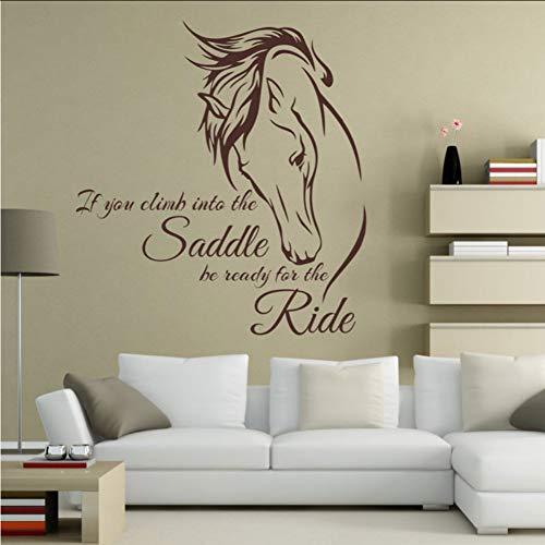 (Mhdxmp)PferdZitate Wenn Sie In Den Sattel Climb Seien SieBereit Für Die Fahrt Equine Art Wohnzimmer -Dekoration Pferd Decal57 * 61Cm
