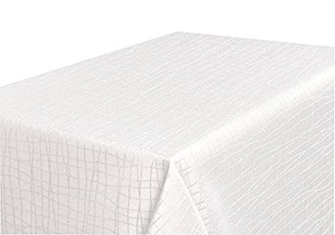 Tischdecke creme 110x110cm aus schwerem Stoff mit hochwertig umsäumtem Rand - Größe Farbe & Form wählbar (Rund Eckig Oval)